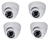 Camera Dome Infra Vermelho 24 Leds HD Kit 4 Uni - Luatek