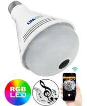Câmera Espia Lâmpada Ip Wifi 3em1 Musica Segurança 360 Led - Luatek