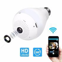 Camera Espia Segurança Lâmpada Visão de 360 Wifi V380 -