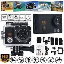 Câmera Esportiva Profissional Wifi 1080p Full Hd 12 Megapixels Prova Dágua Tela Led Sport Cam - Action