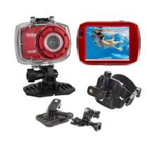Câmera filmadora ação Full HD DVR787 Vivitar + Suporte p/ Capacete -