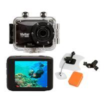 Câmera filmadora de ação Full HD c  caixa estanque e acessórios + Kit Surf a3b224edea