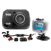 Câmera filmadora de ação Full HD DVR787 Vivitar + Suportes -