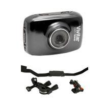Câmera filmadora de ação HD DVR785 Vivitar + Suportes p/ Bike -