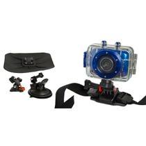 Câmera filmadora de ação HD DVR785 Vivitar + Suportes p/ Carro -