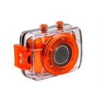 Câmera Filmadora de Ação HD Vivitar  Laranja, com Caixa Estanque e Acessórios- DVR783HD -