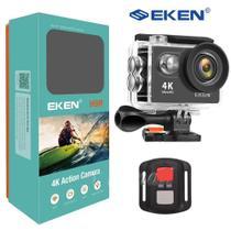 Câmera Filmadora Eken H9R 4K 12MP controle remoto Wi-Fi prova d'água Moto Bike Surf Mergulho -