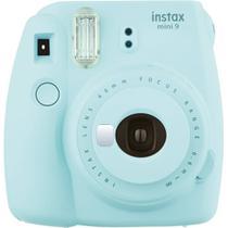Câmera Fotográfica Instantânea Fujifilm Instax Mini 9 Azul Aqua Com Flash e Espelho Para Selfie -