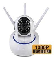 Câmera  Full Hd 1080p 3 Antenas Luatek  P2P Ip Robo 360 Wifi YooSee Visão Noturna Luatek -