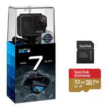 Câmera GoPro 7  Black Edition  + cartão 32G - CHDSB-701 -
