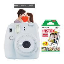Câmera instantânea Fujifilm Instax Mini 9 Branco Gelo + Pack 20 fotos -
