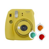 Câmera instantânea Fujifilm Instax Mini 9 c/ 3 filtros coloridos - Amarelo Banana -