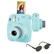 Câmera instantânea Fujifilm Instax Mini9 Azul Acqua + Óculos de Sol -