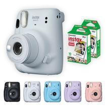Camera Instantanea polaroid Instax Mini 11 Fujifilm + 20 Filmes Branco branca fotografica -
