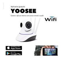 Câmera Ip 3 Antenas Wifi Wireless 3ª Geração Yoosee Promo - Camera Ip