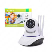 Câmera Ip 3 Antenas Wireless Sem Fio Onvif Wifi Hd Sensor Noturna Rotação App Smartphone - Lsmagazine