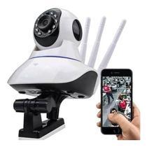 Câmera Ip De Segurança 3 Antenas Para Smartphone Sem Fio Wifi Hd Sensor Noturno Baba Eletrônico - Lxshop