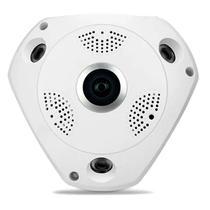 Camera Ip Hd Panoramica 360 Wifi Lente Olho De Peixe - Tsshop