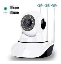 Câmera Ip Icsee 3 Antena Wifi Sd Grava Monitor Visão Noturna - Golden Sky