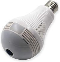 Camera Ip Lampada Panoramica Seguraça Vr 360 Wifi Led V380s - Bcs
