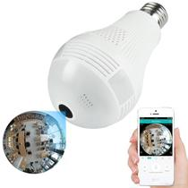 Câmera Ip Lâmpada Segurança Espiã Vr 360 Wifi - Vr Cam