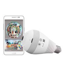 Câmera Ip Lampada Vr 360 Panoramica Espia Wifi - Pyx One