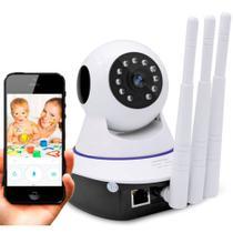 Câmera Ip Noturna 3 Antenas Segurança Espiã 720p HD Audio Led Wifi Wireless 3g Sensor Infravermelho - Jortan