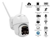 Camera Ip Outdoor 1080p Dome 13 Led Segue Detector Movimento - Haiz