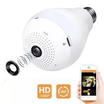 Camera Ip Panoramica Lampada Vr 360 Espia Wifi - Importhk