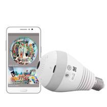 Camera Ip Panoramica Seguraça Lampada Espia Wifi - Dex