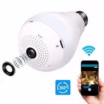Camera Ip Panoramica Seguraça Lampada Vr 360 Espia Wifi - Vr Cam