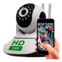 Camera Ip Robô Hd Wifi Sem Fio Gira 360º Áudio Visão Noturna - Onvif