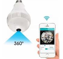 Camera Ip Seguraca Lampada Vr 360 Panoramica Espia Wifi V380 - 3D Panoramica
