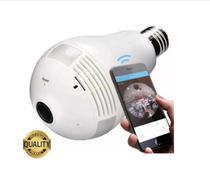 Camera Ip Seguraca Lampada Vr 360 Panoramica Espia Wifi V380 - Dias Eletrons