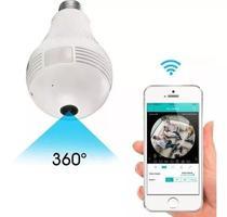 Camera Ip Seguraca Lampada Vr 360 Panoramica Espia Wifi V380 - Evt