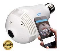 Camera Ip Seguraca Lampada Vr 360 Panoramica Espia Wifi V380 - Flash