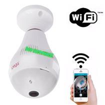 Camera Ip Seguraca Lampada Vr 360 Panoramica Espia Wifi V380 - Importação