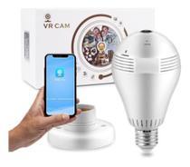 -Camera Ip Seguraca Lampada Vr 360 Panoramica Espia Wifi V380 - Ip Câmera