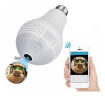 Camera Ip Seguraca Lampada Vr 360 Panoramica Espia Wifi V380 - Não Informada