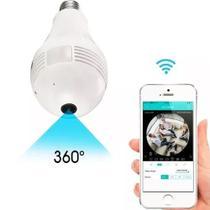 Camera Ip Seguraca Lampada Vr 360 Panoramica Espia Wifi V380 - Vr cam v380 - Luatek