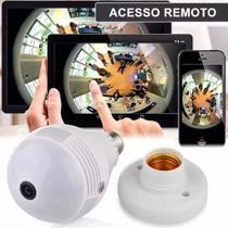 Camera Ip Seguraca Lampada Vr 360 Panoramica Espia Wifi V380 - Vr Cam V380