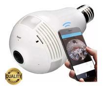 Camera Ip Seguraca Lampada Vr 360 Panoramica Espia Wifi V380 - Vr Cam