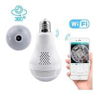 Câmera Ip Segurança Lâmpada Panorâmica Espiã Wi-fi - Art Sete