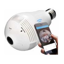 Camera Ip Segurança Lampada Vr 360 Panoramica Espia - Wifi - Sonoff