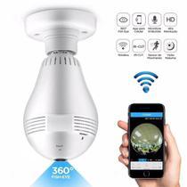 Camera Ip Segurança Lampada Vr360 Panoramica Espia Wifi V380 -