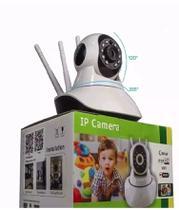Câmera Ip Sem Fio 360 3 Antenas HD WiFi RJ45 Visão Noturna - Luatek