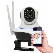Câmera IP sem Fio Babá Eletrônica 360 Wifi 2 antenas HD 720p Pantilt 11 Leds Onvif Visão Noturna, com Áudio, Grava em Cartão Sd - Outros
