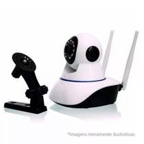 Câmera Ip Sem Fio Wifi Hd 720p Robo Wireless, Com Áudio, Grava Em Cartão Sd, Com 2 Antenas E Visão N - Lotus