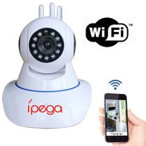 Câmera IP Wi-Fi Ípega Pan Tilt Microfone e Áudio 3 Antenas Infravermelho 5 mts HD 720p - KP-CA127 -
