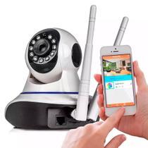 Câmera Ip Wifi Segurança Hd Wireless P2p Visão Noturna 2 Antenas Onvif Captação Áudio - Centrão